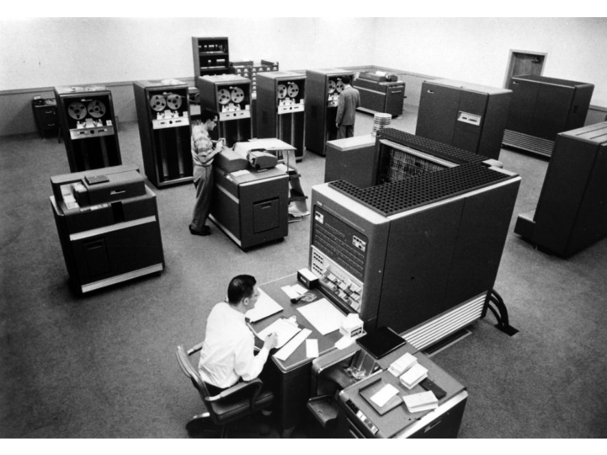 The IBM 704 used with the first Bell Labs' music software: Music I