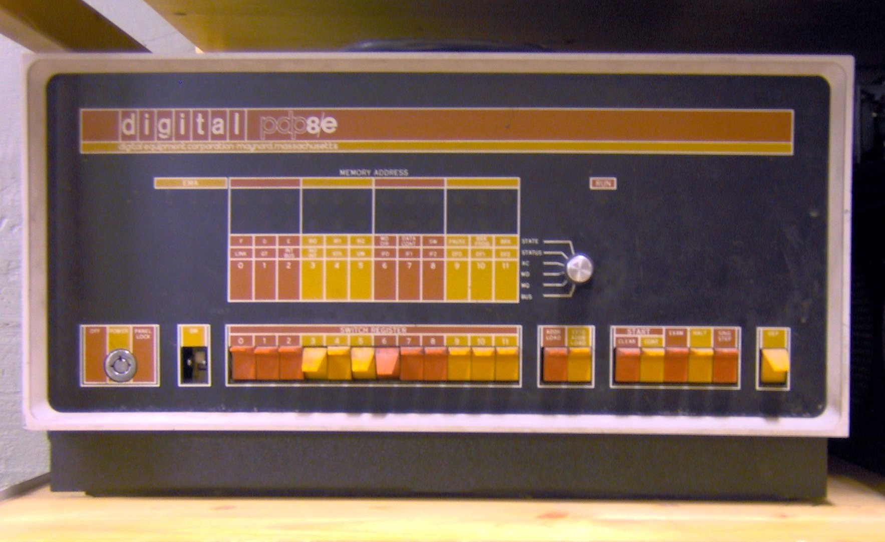 A picture of a PDP-8.