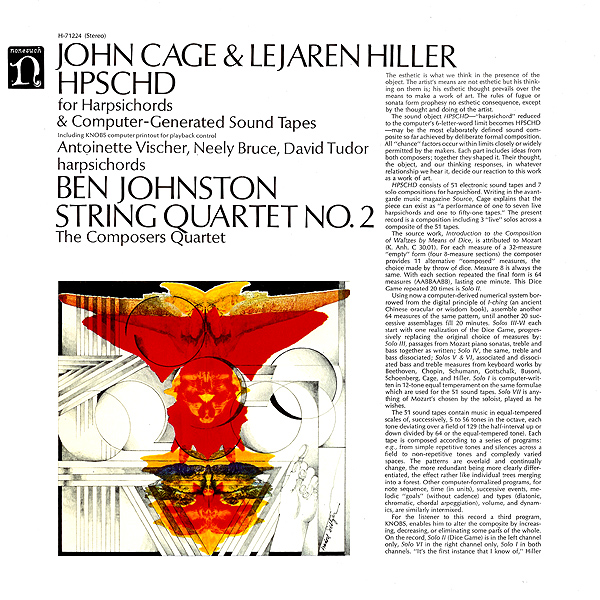 The cover of the studio HPSCHD, produced by Nonesuch Records.